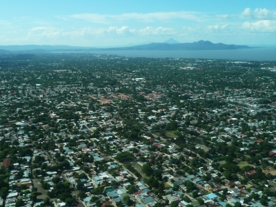 The city of Managua from the air