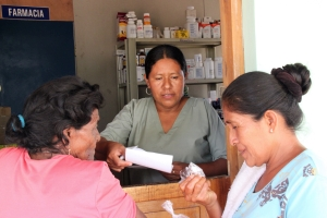 A nurse dispensing medicines