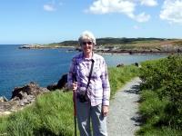 Walker on coast path
